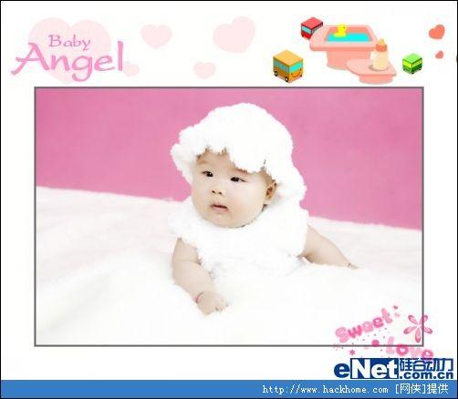 好看边框 一键秀出宝宝粉粉照片[多图]