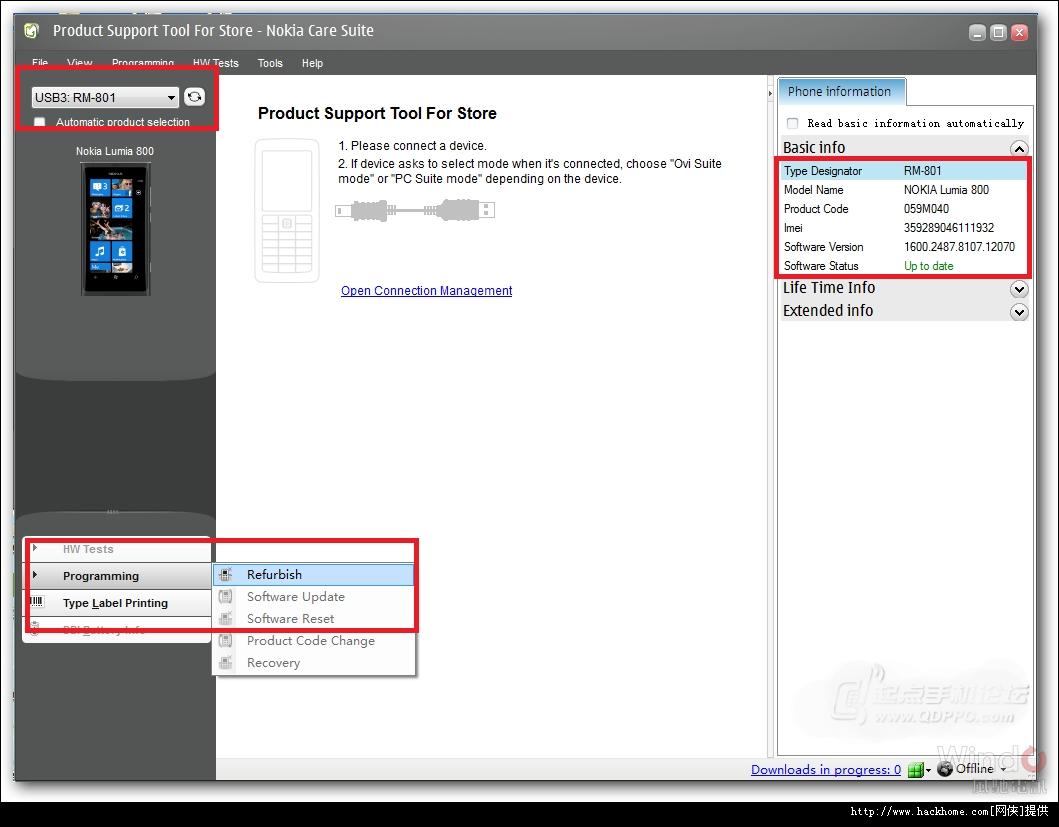 诺基亚e71刷机软件_诺基亚Lumia800官方WP7.8(8858)固件升级刷机详细图文教程![多图 ...