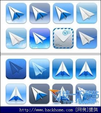 ticons纸飞机图标