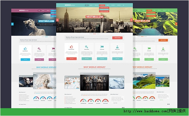 2013最新漂亮使用国外网站模板PSD合集下载[多图]