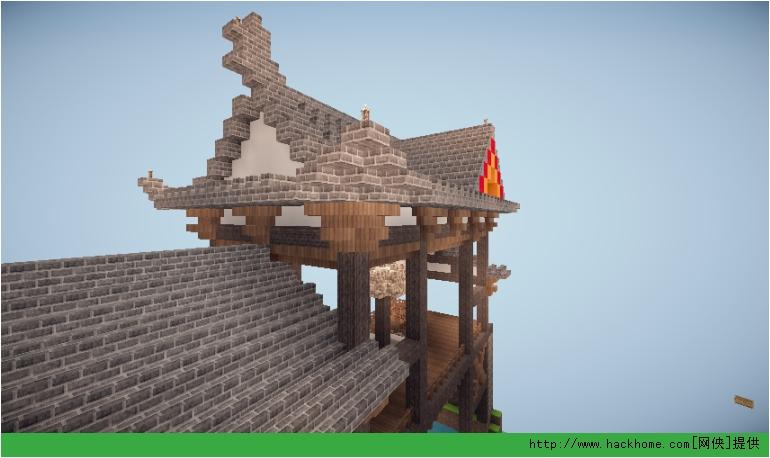 把手教你建造 我的世界 中式建筑的屋顶和硬山 悬山 歇山顶图文教程图片