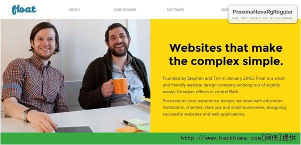 怎样给扁平化风格的网站选择合适的字体呢?[多图]