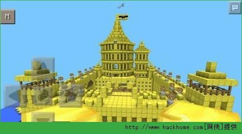 我的世界手机版建筑黄金城堡存档下载