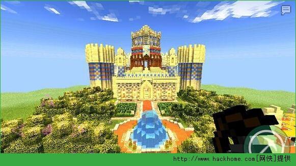 我的世界手机版0.11.0轩天城堡超大型建筑存档图片