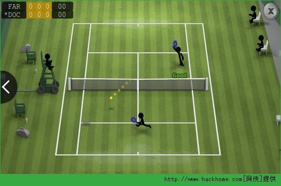 火柴人网球iOS已付费免费版(Sticman Tennis)图1: