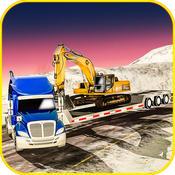 重型机械运输车卡车