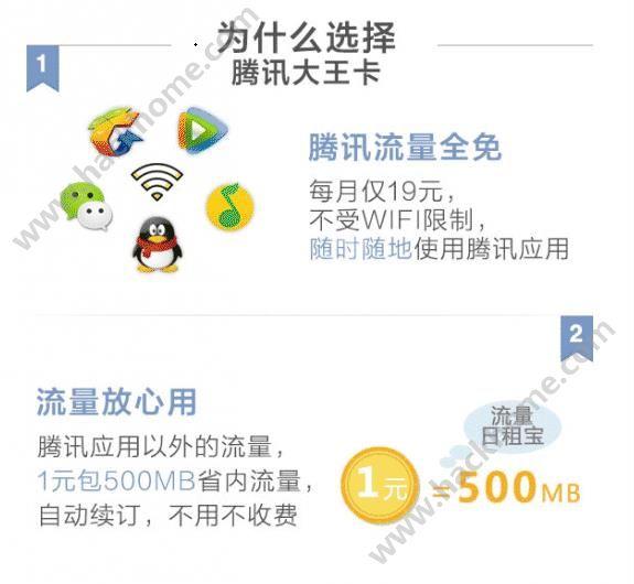 腾讯大王卡免流量应用有哪些?腾讯大王卡免流量应用和业务分享[多图]图片2_嗨客手机站