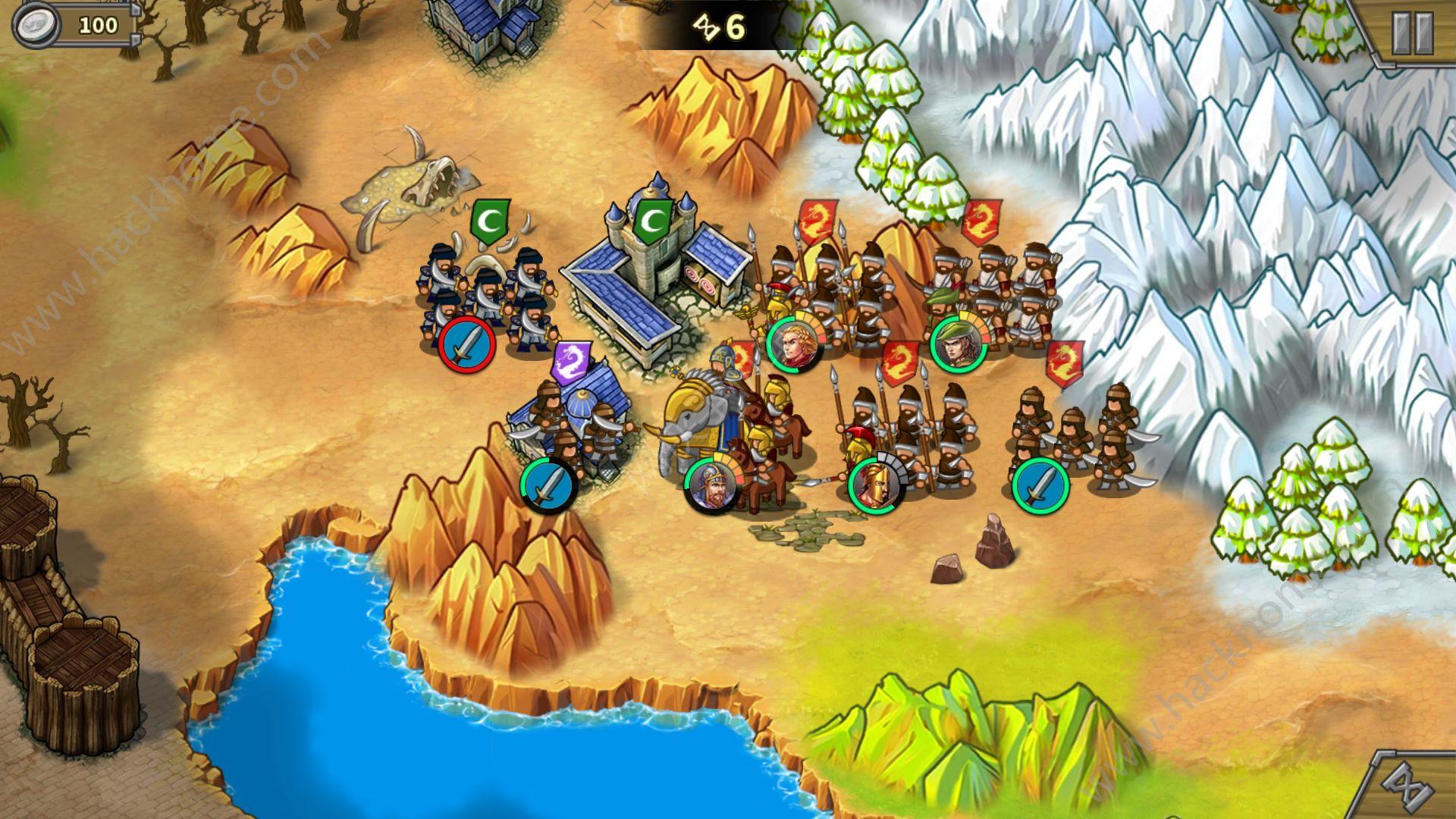 r4~r5,推掉箭塔,第一个据点可以放公主爆步兵,然后利用兵种克制