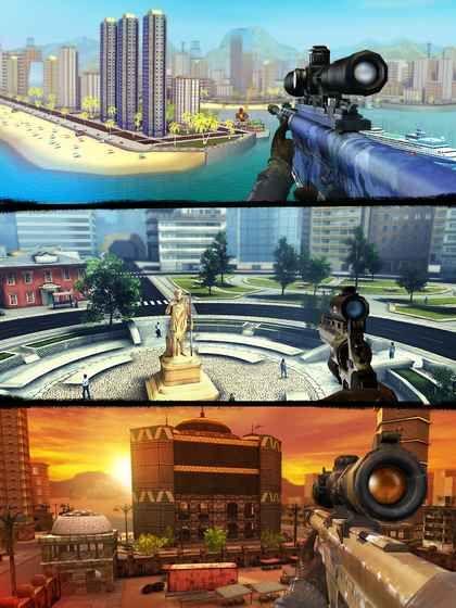 狙击3D刺客射击游戏中文汉化版下载(Sniper 3D)图4: