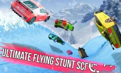 冰冻水滑道赛车中文无限金币破解版(Frozen Water Slide Race)图1: