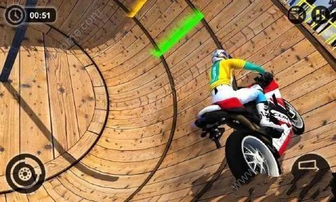 摩托车特技驱动器游戏中文汉化版(Well Of Death Bike Stunts)图2: