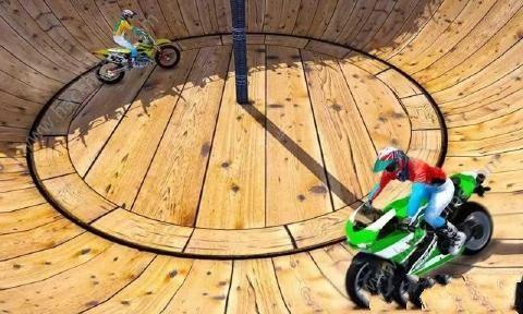 摩托车特技驱动器游戏中文汉化版(Well Of Death Bike Stunts)图4:
