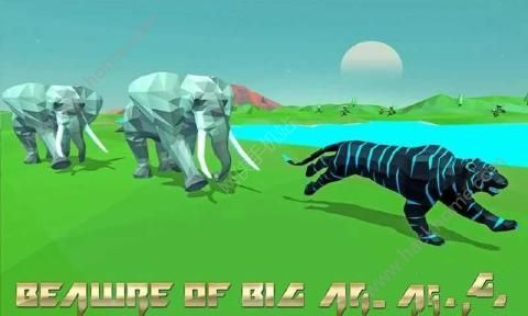 老虎模拟器幻想森林游戏中文汉化版(Tiger Simulator Fantasy Jungle)图2: