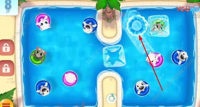 汤姆猫水上乐园14关怎么过? 第14关图文通关教程[多图]图片3_嗨客手机站