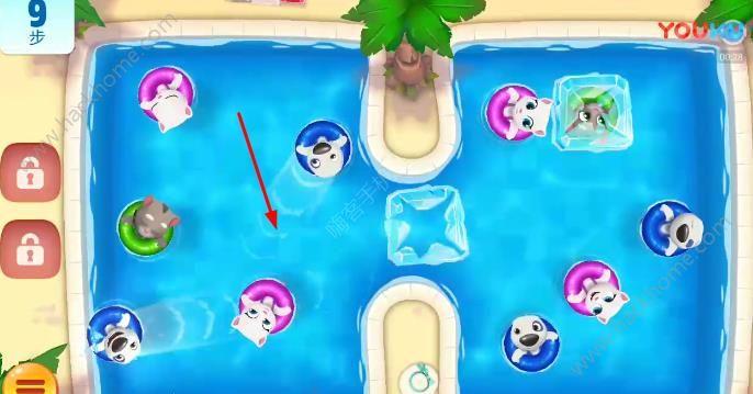 汤姆猫水上乐园14关怎么过? 第14关图文通关教程[多图]图片2_嗨客手机站