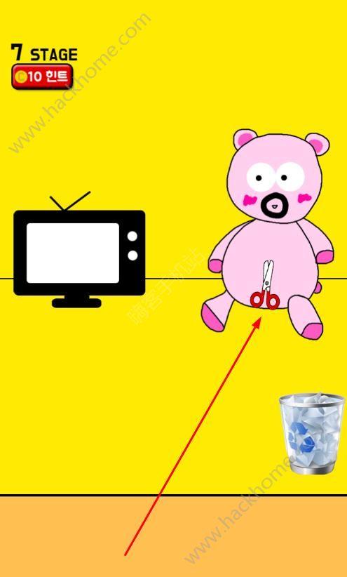 手机被妈妈藏起来了第七关攻略 玩具熊图文通关教程[多图]图片2_嗨客手机站