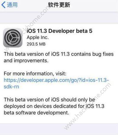 苹果ios11.3beta5固件下载地址 ios11.3 beta5描述文件地址[多图]图片2_嗨客手机站
