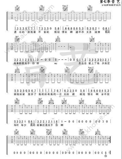 纸短情长钢琴简谱数字 抖音纸短情长钢琴谱图片图片