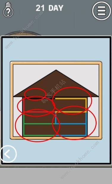 妈妈把我锁在家里了3第21关攻略 彩色线条图文通关教程[多图]图片1_嗨客手机站