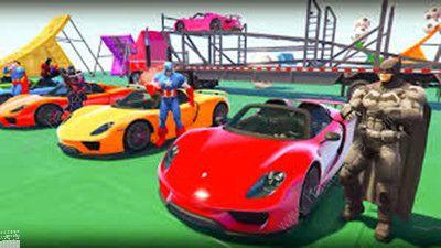 超级英雄赛车特技比赛游戏安卓最新版下载图片1