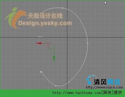 图2 贝塞尔曲线-3DSMAX精彩实例 制作逼真诱人的苹果
